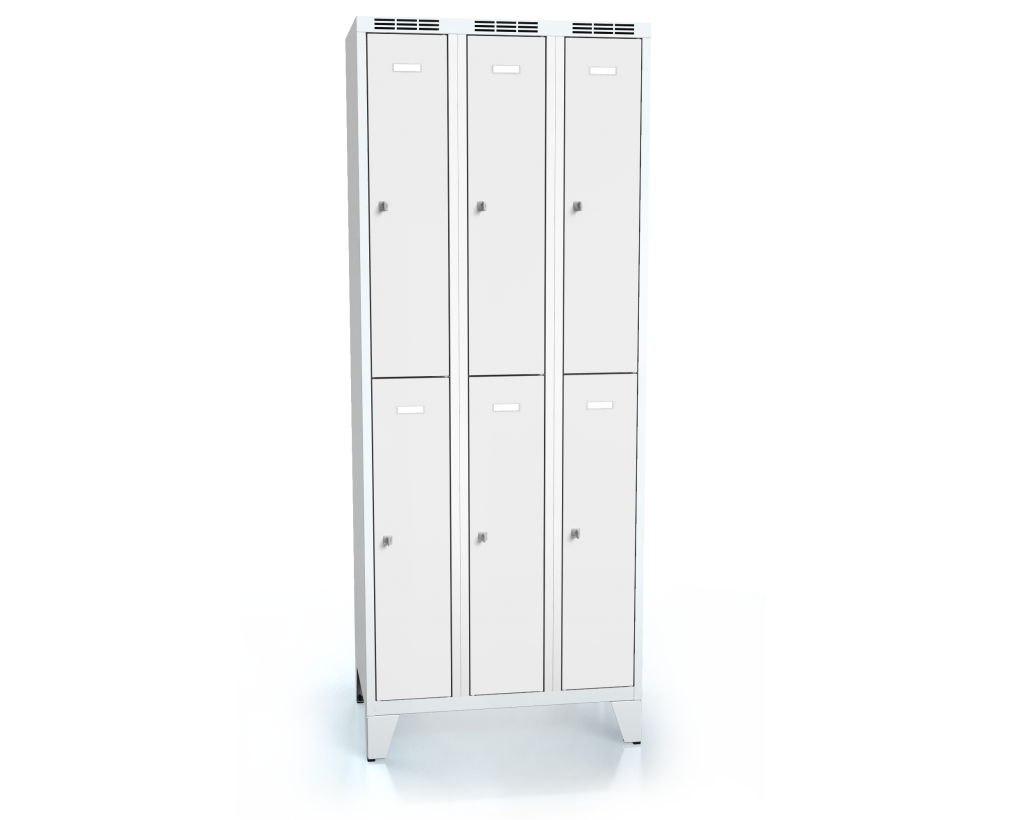 Divided cloakroom locker ALDUR 1 with feet 1920 x 750 x 500